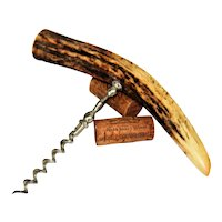 Antique Stag Antler Handle Corkscrew