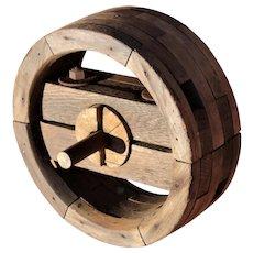 1800s Wood Split Wheel, Pulley Wheel,