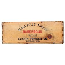 1910 Black Pellet Powder Wooden Shipping Crate