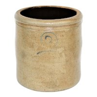 1850s Two Gallon Stoneware Crock