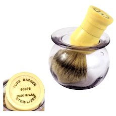 Pure Badger Shaving Brush with Purple Glass Shaving Cup