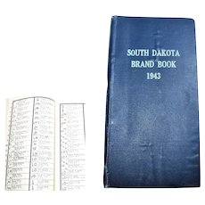 1943 South Dakota Brand Book,  Livestock Brand Book
