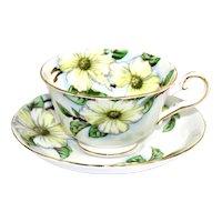 Tuscan Fine China, Tea Cup and Saucer, Dogwood Pattern, English Tea Cup