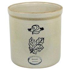 1930s Western Stoneware Company Two Gallon Stoneware Crock