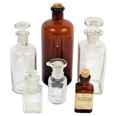 Apothecary Bottles, Collection of Six Apothecary Bottles
