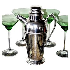 1930s Art Deco Silver Martini Shaker, Cocktail Shaker