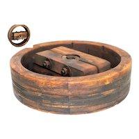 """18"""" Wooden Split Wheel Pulley, Wide Belt Pulley, Farm Pulley"""