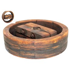"18"" Wooden Split Wheel Pulley, Wide Belt Pulley, Farm Pulley"