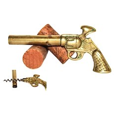 1930s Brass Pistol with Hidden Corkscrew & Bottle Opener