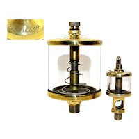 Gast Manufacturing Co. Brass Engine Oiler, Sight Gravity Drip Feed Oiler