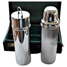 1917 Travel Thermos Set in Case, Landers Frary and Clark