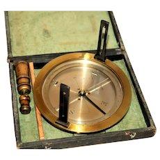 1920s Brass Surveyors Compass, Gerald Darrow Wyoming Mining