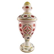 Gorgeous Porcelain and Glass Hand Painted Vase
