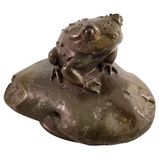 Bronze Toad Figurine by Debi Pollock - Limited (166/1000) - Signed