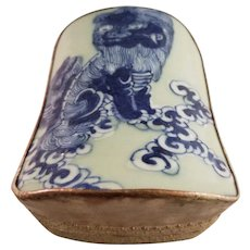 Vintage Chinese Porcelain and Silver Dragon box