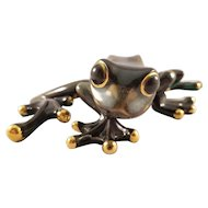 Decorated Ceramic Tree Frog Figurine
