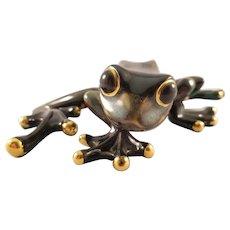 Decorated Ceramic Tree Frog Figurine