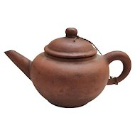 Vintage Chinese Yixing Clay Teapot - Stamped Bottom
