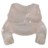 Authentic Lalique Gregoire Toad Crystal Figurine - Signed