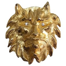 Laloon Exclusive Design GILT LION Metal Belt Buckle