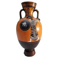 Museum Reproduction Greek Red Figured Amphora