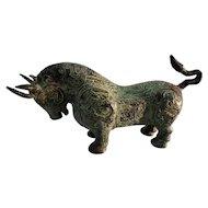 Archaic Style Bronze Toro (Bull) Statue