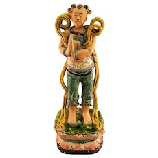 Colorful Large Chinese Glazed Figural Roof Tile