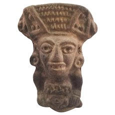Unique Small Pre-Colombian Pottery Figurine