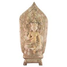 Amazing Archaic Style Buddha Pottery Figure