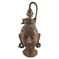 Vintage Bronze Indian Man Bust