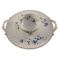 Limoges Porcelain Dip Bowl and Dish - Inscribed