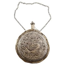 Chinese Repousse Flask - Chinese Zodiac Signs Design