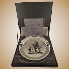 Washington Mint Sterling Silver Plate of Picasso's Don Quixote - Original Set with COA - Limited