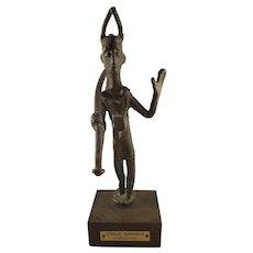 Antique Sardinia Bronze Archer Statue - Civilta Nuragica Arciere