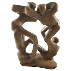 Vintage Hand-carved Abstract Stone Sculpture
