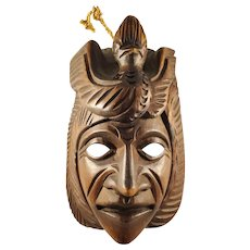 Handcarved Native American Wooden Mask