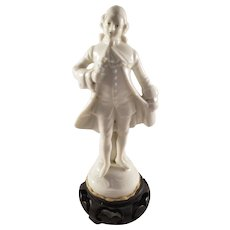Small French Sevres Porcelain Statue of a Renaissance Era Man