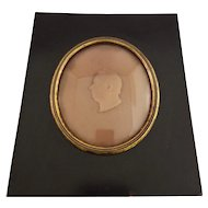 Antique Framed Wax Portrait of Robert Bower By M.Parker - 1816