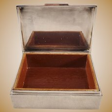 Vintage 835 Silver Trinket box - Wooden Interior and Base