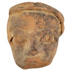 Antique Small Pre-Colombian Face Motif
