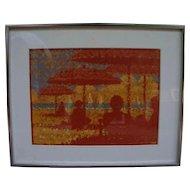 Framed Allen McCurdy Oil on Canvas of a Beach Scene - Signed