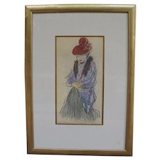 "Multiple Fine Print of ""Women with Fur Stole"" by Pablo Picasso - COA"
