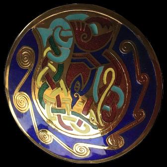 Pretty Multi-Colored Cloisonné Pin / Brooch
