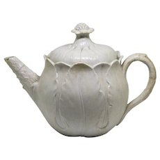 Wonderful Early Wedgwood Creamware Teapot Figural Cabbage c1800