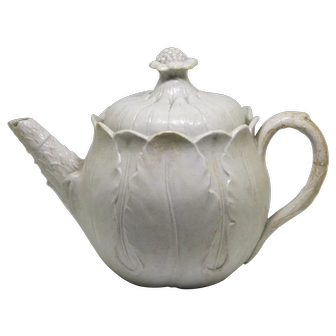 Wonderful Early Wedgwood Creamware Teapot Figural Cabbage c1800
