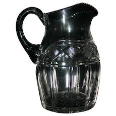 Wonderful Georgian cut glass water jug, probably Irish