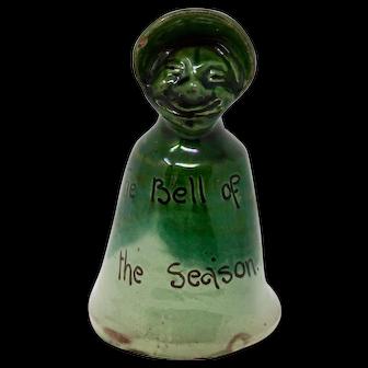 Rare Suffragette Baron pottery bell c.1900