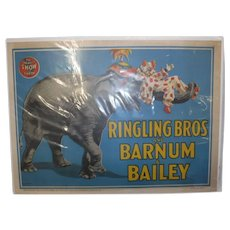 Original Barnum and Bailey circus poster 1945