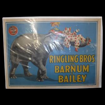 Original Barnum and Bailey circus poster 1945