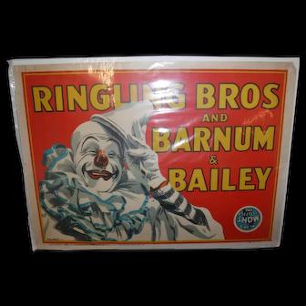 Orig Barnum & Bailey circus poster 1943